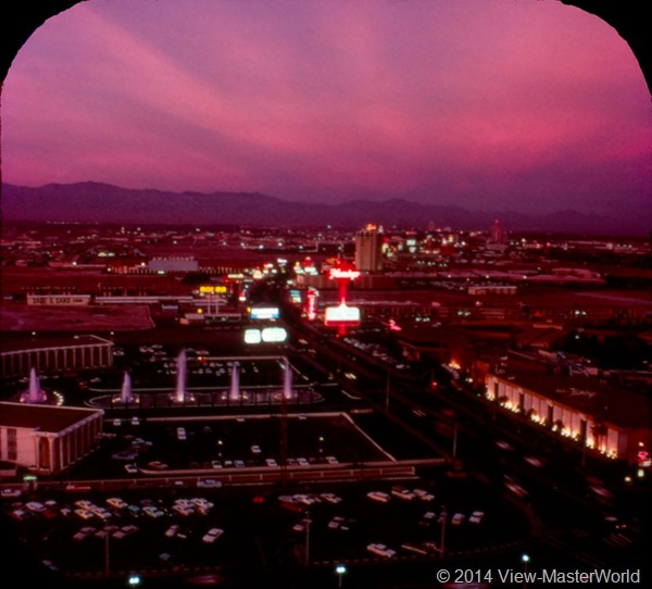 View-Master Las Vegas Nevada A159 Scene 1-7 the Strip at Dusk
