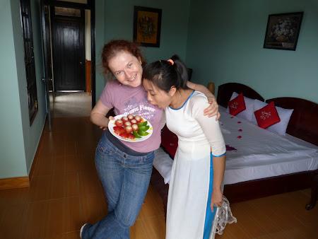 Cazare Vietnam: fruit basket de primire la hotelul Hai Au
