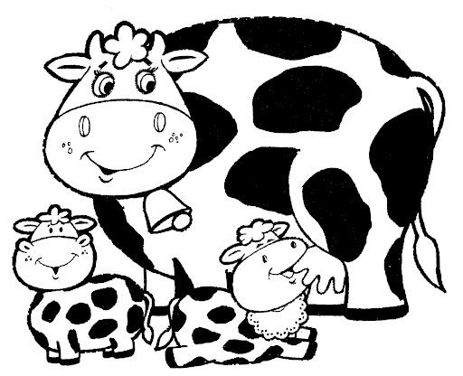 Dibujos De Vacas Animadas Para Colorear: Dibujos De Vacas Para Colorear E Imprimir