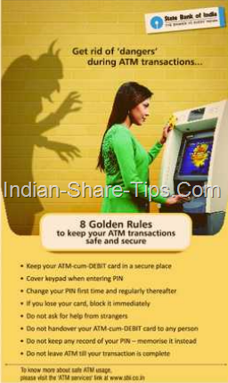 Golden rules to keep atm transactions safe