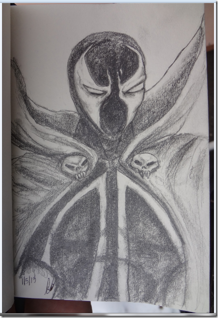 Spawn chracter study mini sketch jan 5 2013