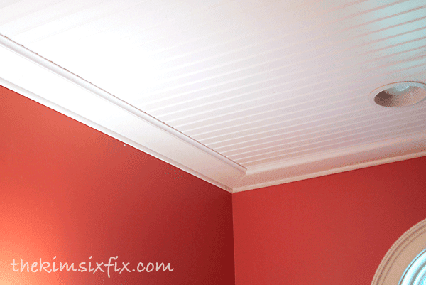 Beadboard ceiling trim boards