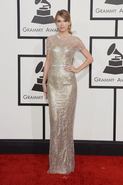 Taylor Swift attends the 56th GRAMMY Awards