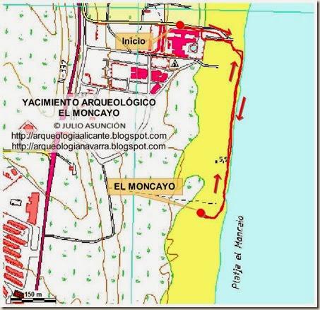Mapa Guardamar Del Segura.Rutas Arqueologicas Por Alicante Mapa Y Soporte Gps El