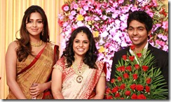 Amala Paul at GV Prakash Kumar & Saindhavi Wedding Reception Photos
