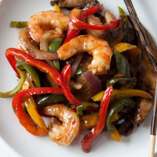 15 Minute Ginger Shrimp Stir Fry.