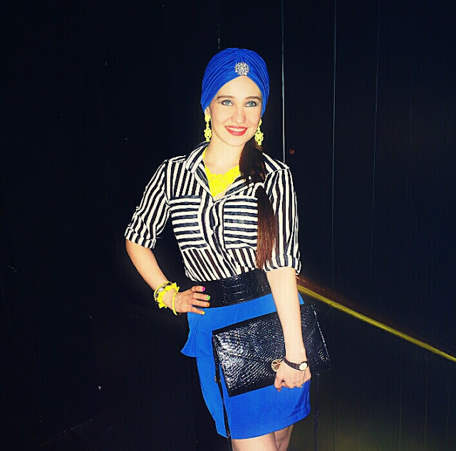 Cobalt Blue Trend, Fashion Turban