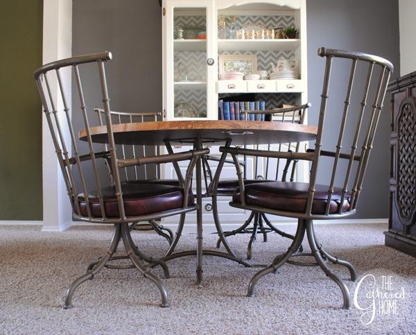 Faux Bamboo Metal Swivel Chairs7
