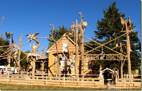 kansas its the home of a stone log cabin house surrounded by 200 concrete sculptures all created by samuel dinsmoor - Garden Of Eden Kansas