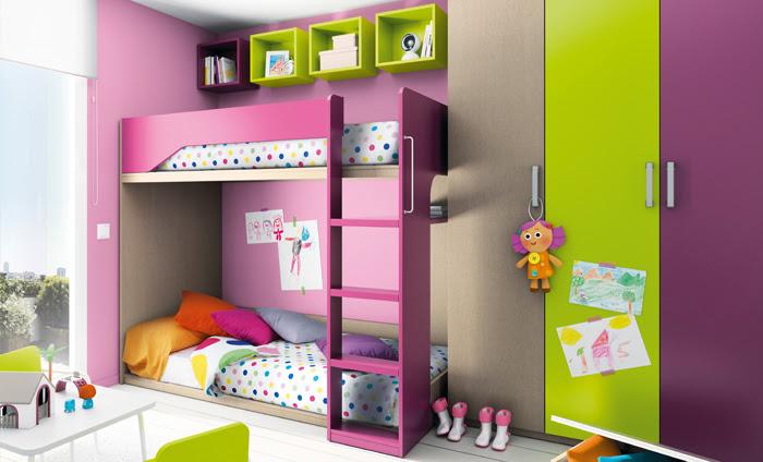 Habitaciones infantiles con literas un espacio para compartir - Literas para habitacion pequena ...