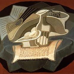 Juan Gris (1925): Le Tapis bleu. Musée national d'Art moderne, Centre de création industrielle. Paris. Francia.