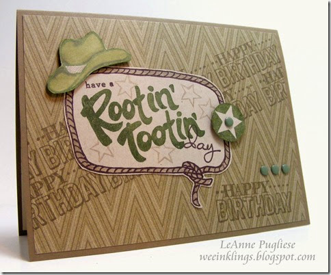 LeAnne Pugliese WeeInklings YeeHaw Big Day Birthday Stampin UP