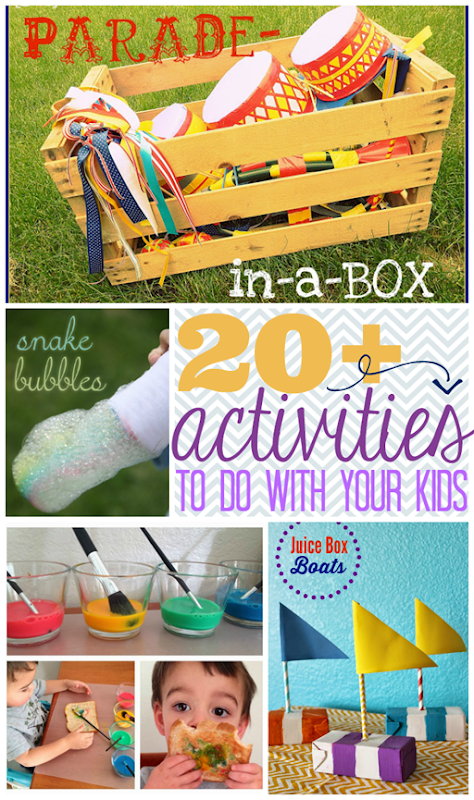 Over 20 Activities to Do with your Kids at GingerSnapCrafts.com #kidactivities #kidscrafts #diy #linkparty #features