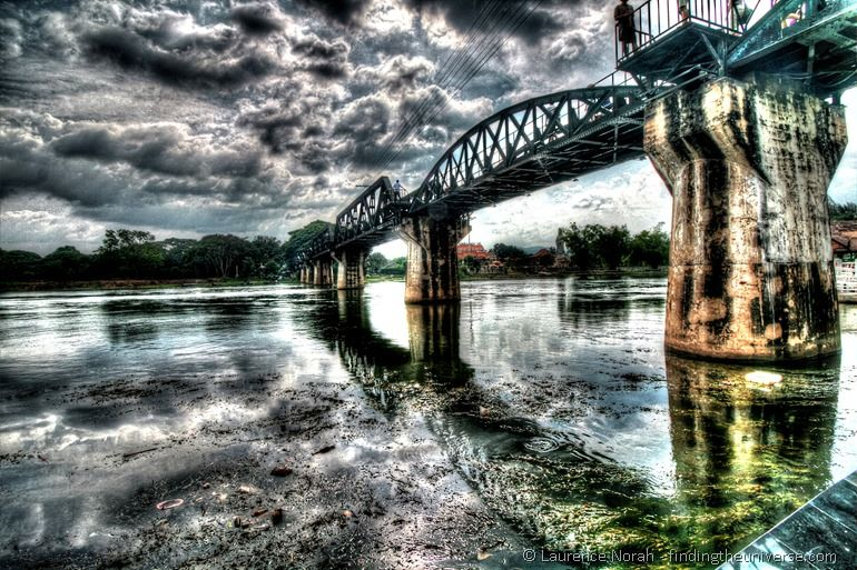 Bridge over the River Kwai Thailand HDR