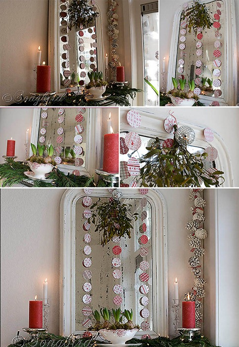 Songbird Christmas Mantel Collage