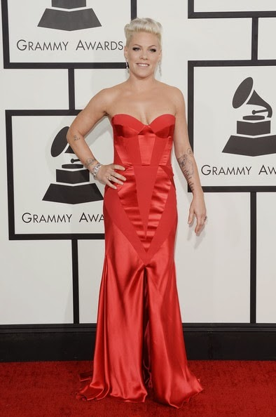 Pink attends the 56th GRAMMY Awards at Staples Center