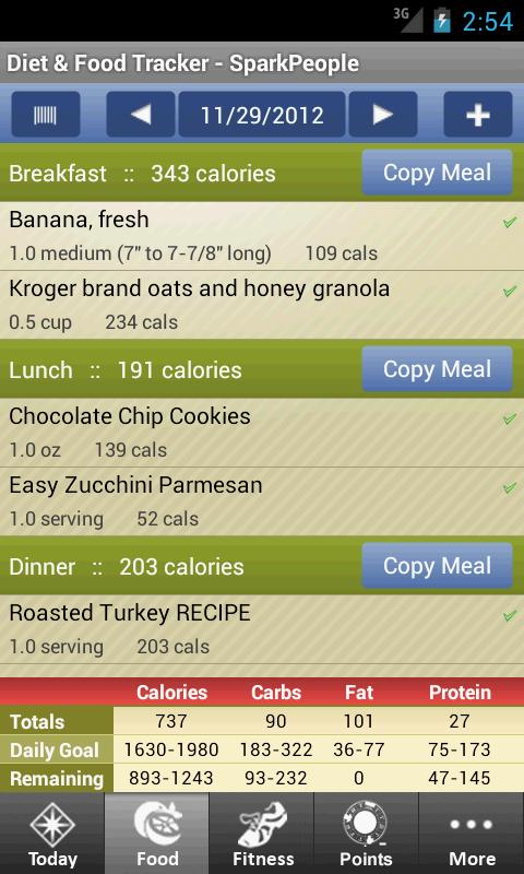 Diet & Food Tracker - screenshot