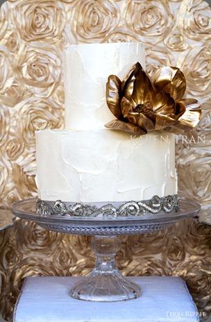 gold-silver-wedding-cake karen tran