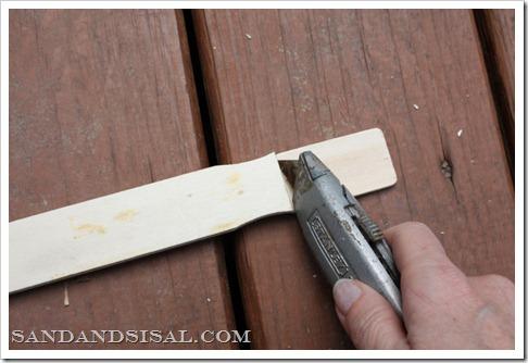 cut paint sticks