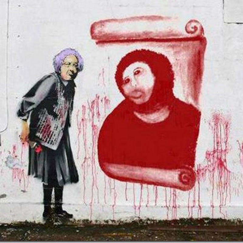fusión de Banksy y del 'Ecce Homo' restaurado por Cecilia