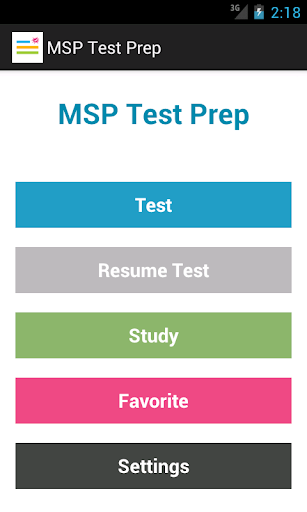 MSP Test Prep
