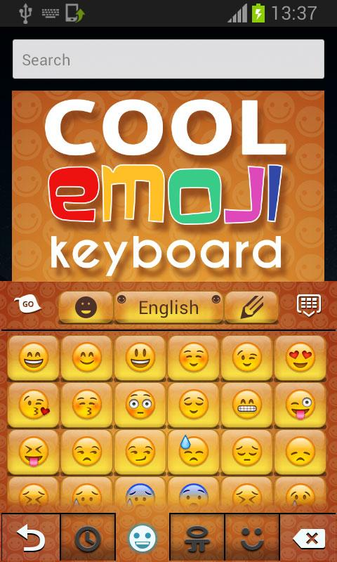 Cool Keyboard with Emoji - screenshot