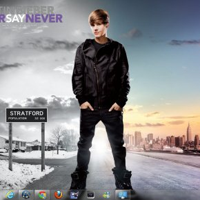 Tema de Justin Bieber para windows 7