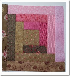 Log cabin block inPink