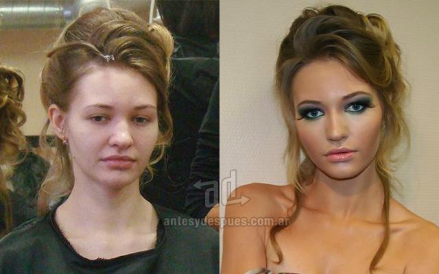 Antes y despues del maquillaje 1