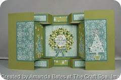All is Calm, Large Square Double Display Card, Festival of Trees, Wonderful Wreath, by Amanda Bates, The Craft Spa (1)