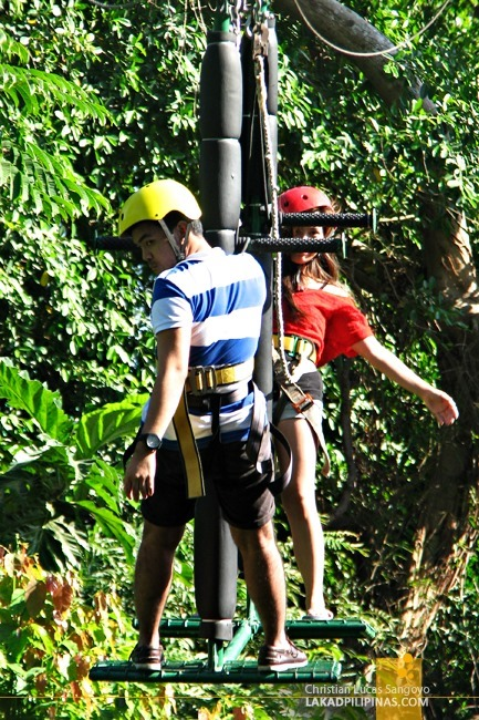Friends at Subic's Tree Top Adventure