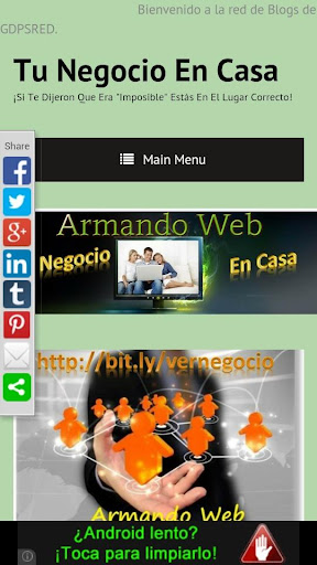 SU WEB O BLOG DIRECTO ANDROID