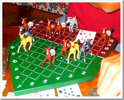 Horse race game.
