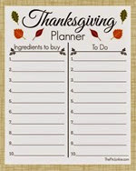 The Pin Junkie - Thanksgiving Planner
