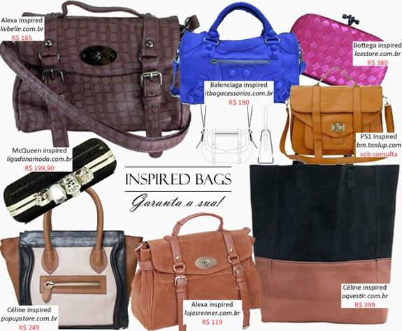 Bolsas Inspired  Onde comprar online – Confira 8 releituras de grifes  famosas. b27b57430c8