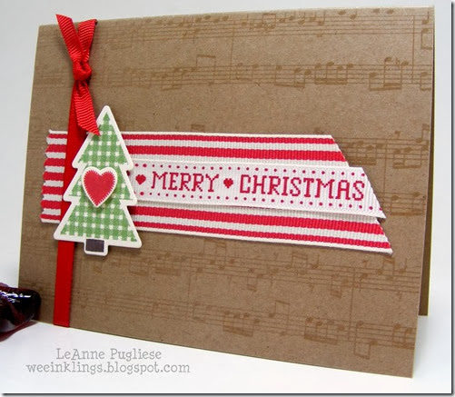 LeAnne Pugliese WeeInklings Merry Monday 90 Christmas Stampin
