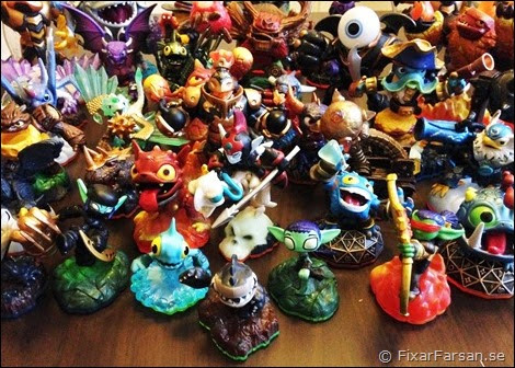 Gamla-Skylanders-Figurer-Trap-Team
