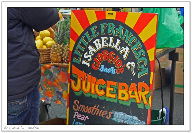 Little Francesca Juice Bar at Broadway Market