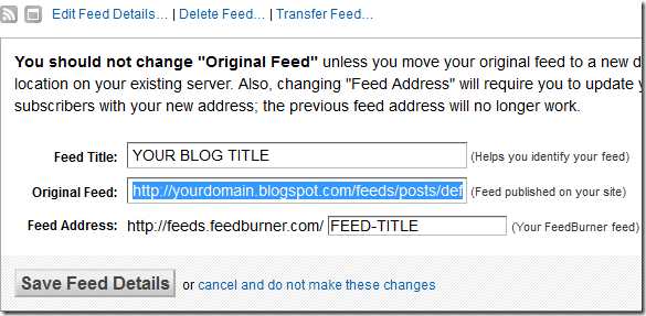 redirect feedburner subscribers