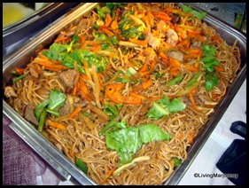 Pancit at Costales Nature Farm