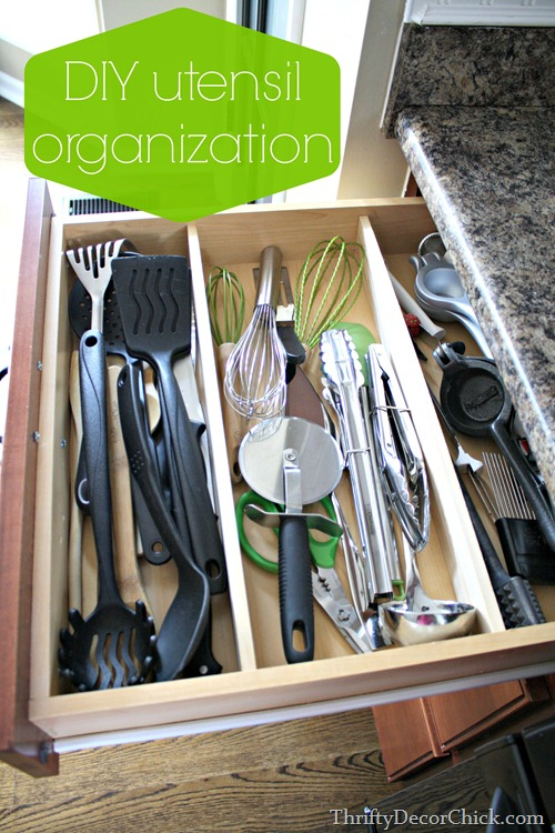 DIY utensil organization