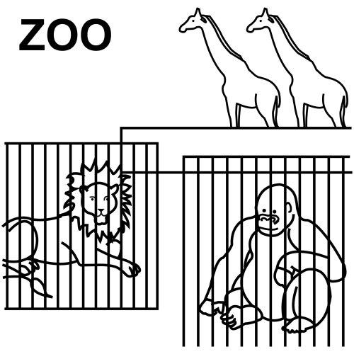 VISITA AL ZOOLOGICO Y PINTA SUS ANIMALES