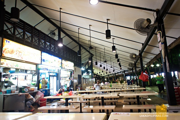 Hawker Stalls at Singapore's Newton Circus