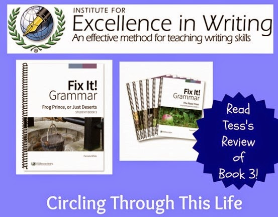Fix It! Grammar Book 3 Review ~ A fun way to learn grammar skills editing and rewriting ~ Circling Through This Life