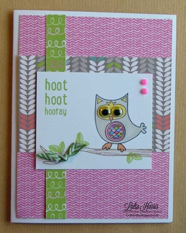 Laughing Lola and Owls CTMH stamp set with googley eyes