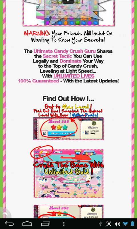 Candy game Tips and Cheats' - screenshot