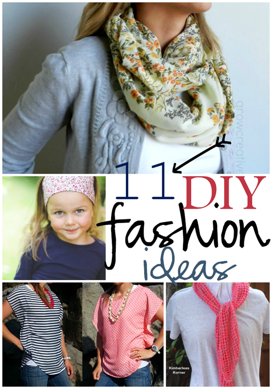 11 DIY Fashion Ideas at GingerSnapCrafts.com #linkparty #features #DIY #fashion
