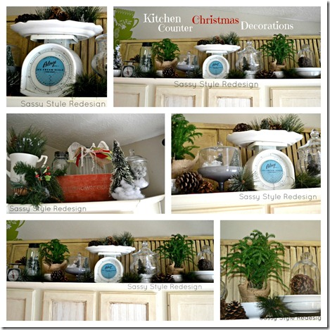 kitchen counter decor collage