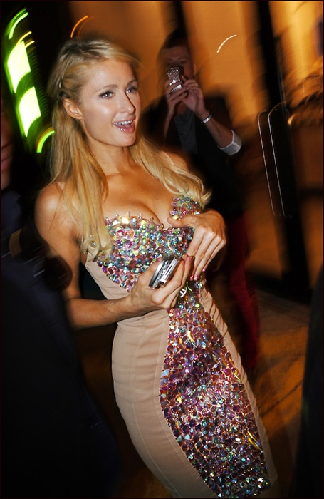 Paris Hilton arrives at The Blonds NY Fashion Week Sept 2012  ol