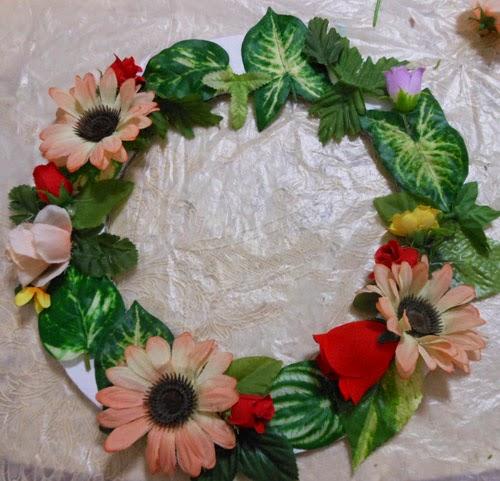 DIY decoração - como fazer guirlanda de flores